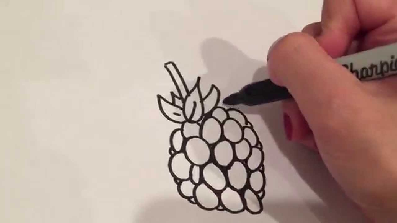 1280x720 Drawing A Raspberry
