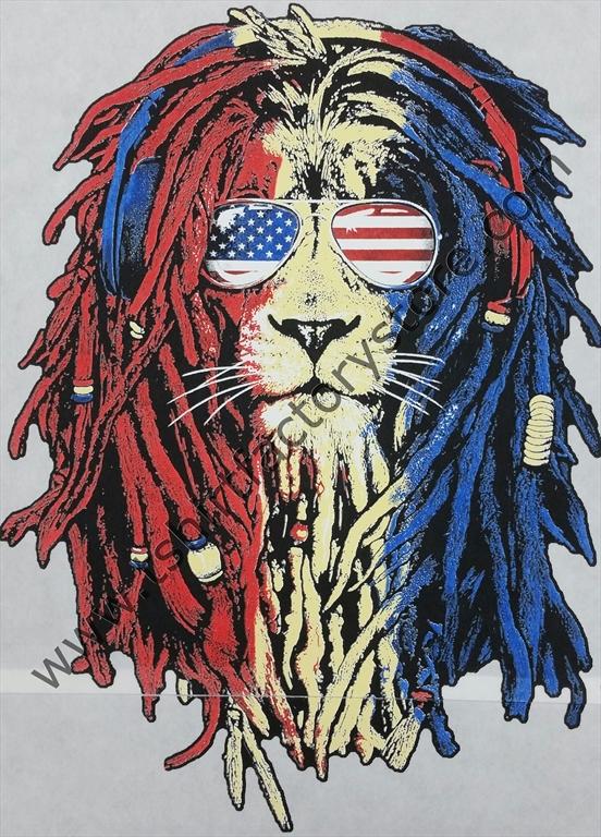 552x768 Us Flag Rasta Lion T Shirt Factory Shop Printed T Shirts