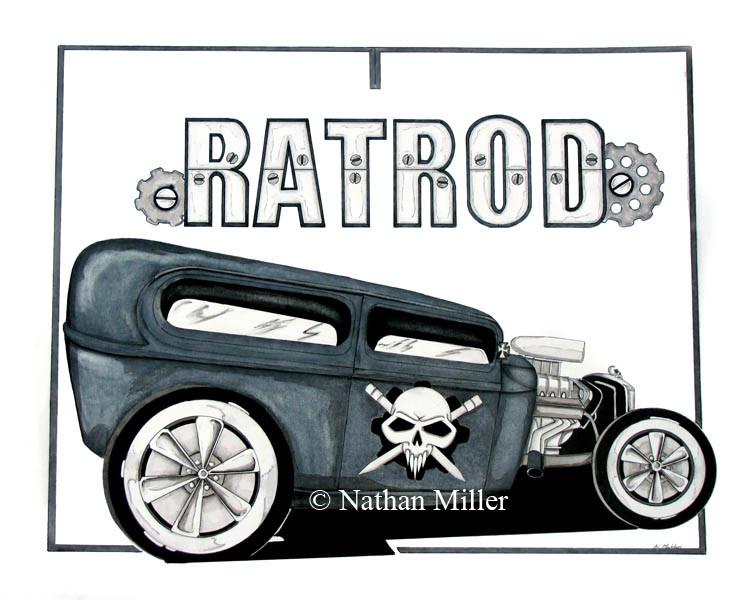747x600 Rat Rod Truck Drawings Rat Rod Rats Amp Bobbers