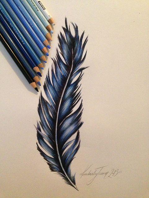 480x640 Feather Design, Prismacolor Pencils Feather Design, Feathers