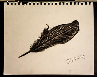 340x270 Raven Feather Etsy