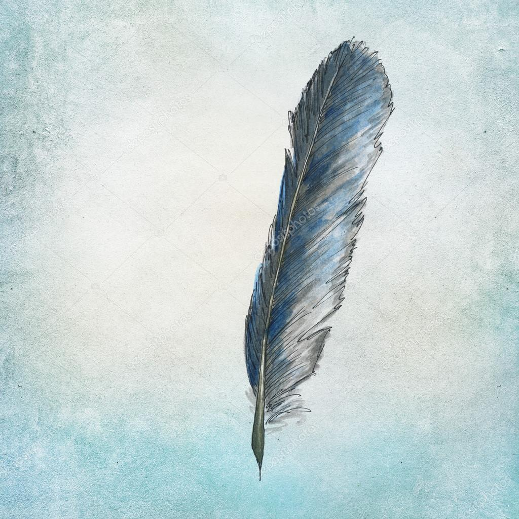 1024x1024 Handpainted Raven Feather Stock Photo Piolka