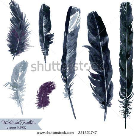 450x457 Raven Feather Watercolour