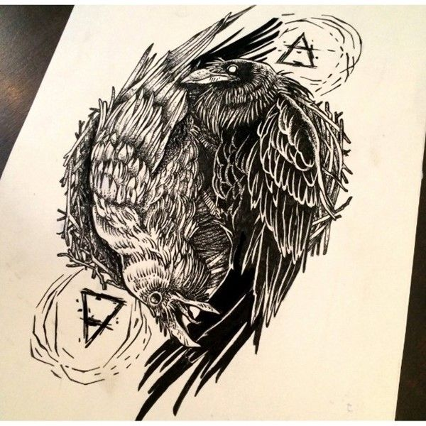 600x600 150 Amazing Crow Raven Tattoos And Meanings (April 2018) Crows