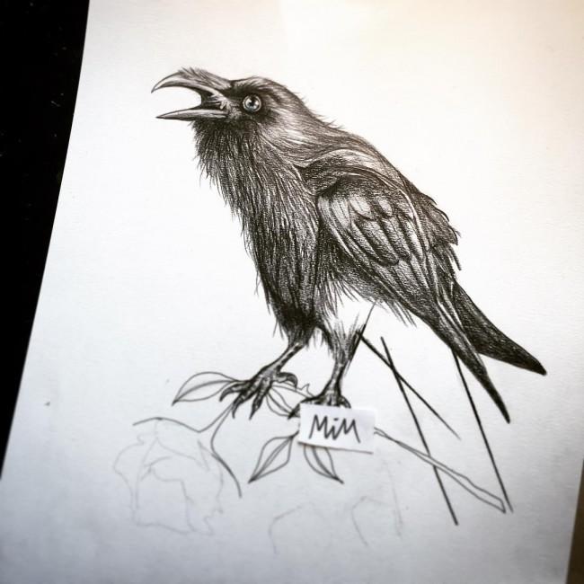 23 Raven Tattoo Designs Ideas: Raven Tattoo Drawing At GetDrawings.com