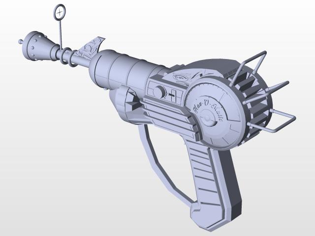 640x480 Ray Gun Mk1 3d Cad Model Library Grabcad