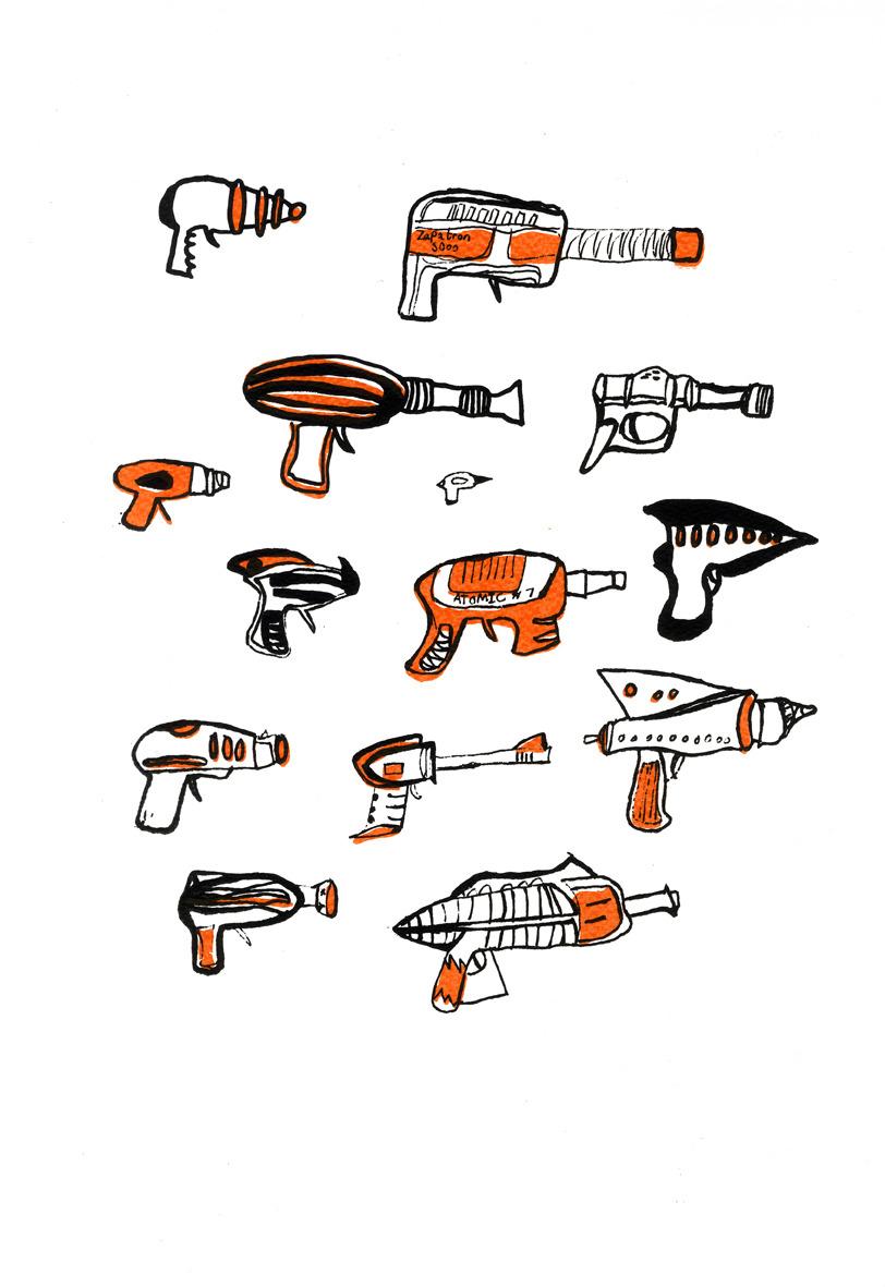 812x1181 Ray Gun Screen Prints