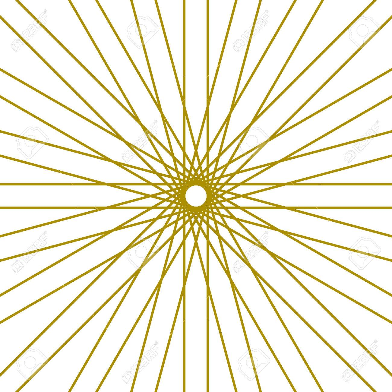 1300x1300 Rays Radiating From A Center. Linear Drawing Of Rays Of The Sun