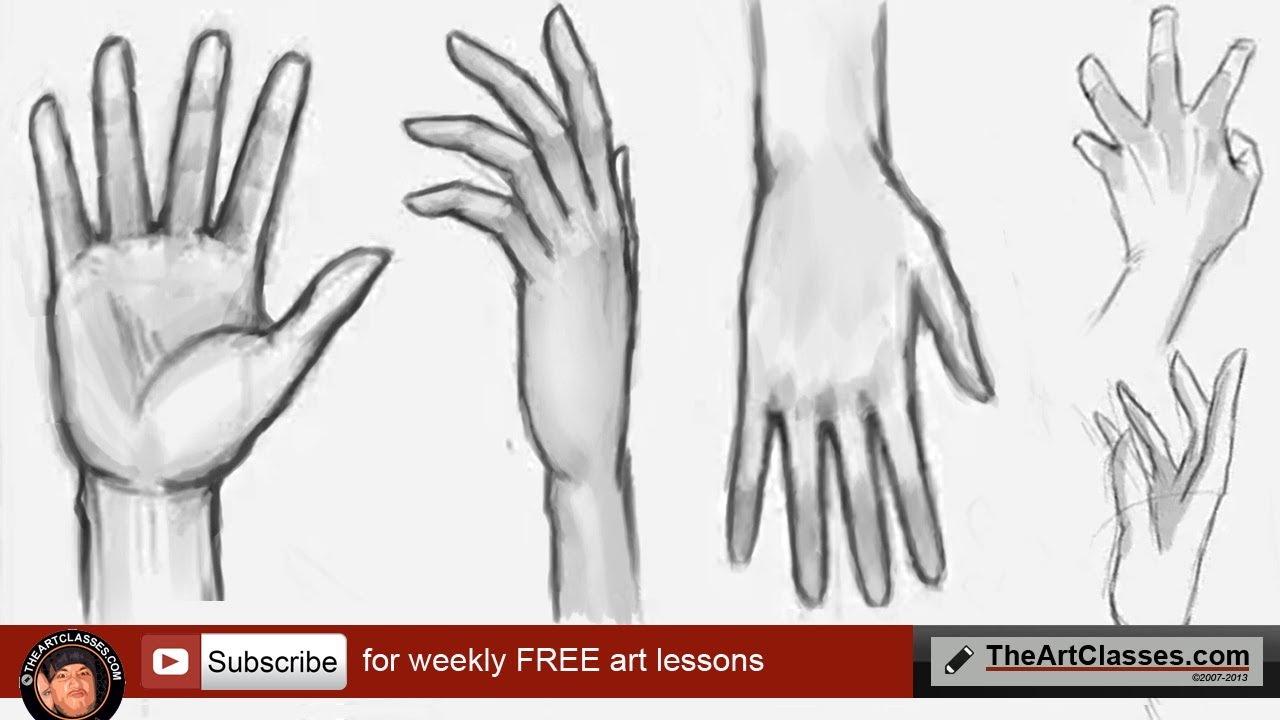 1280x720 How To Draw Hands Front And Back