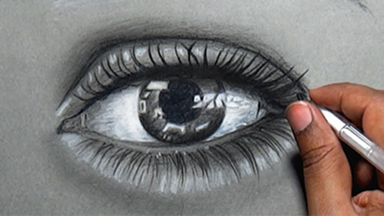 1280x720 How To Draw A Real Eye With Pencil