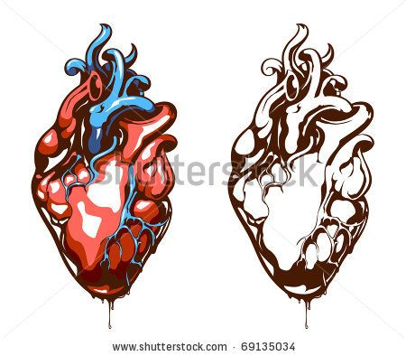 450x394 real heart drawing clipart panda