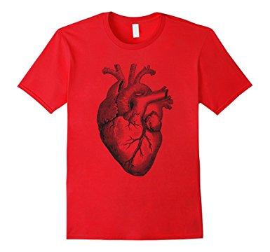 385x360 Real Anatomical Human Heart Drawing T Shirt Clothing