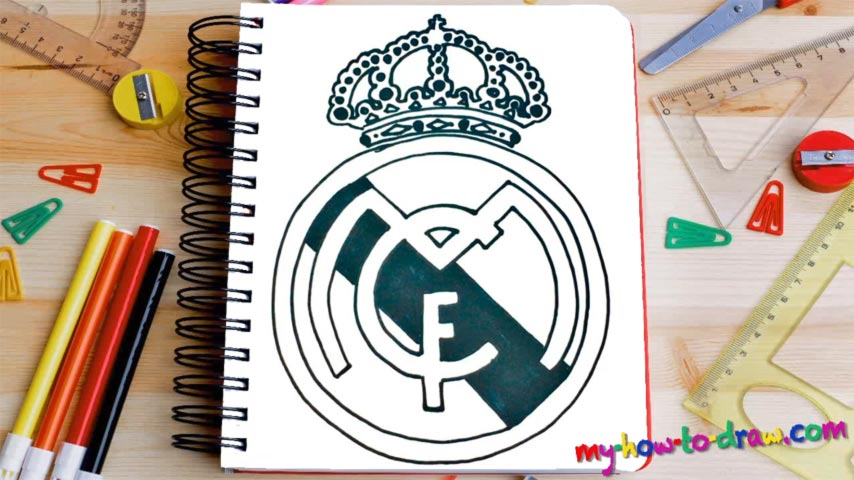 854x480 How To Draw The Real Madrid Logo
