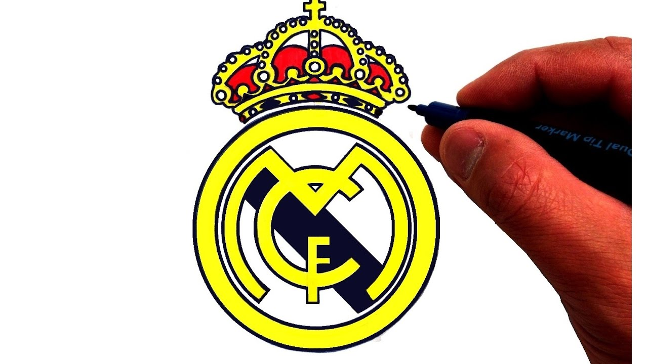 1280x720 How To Draw The Real Madrid C.f. Logo