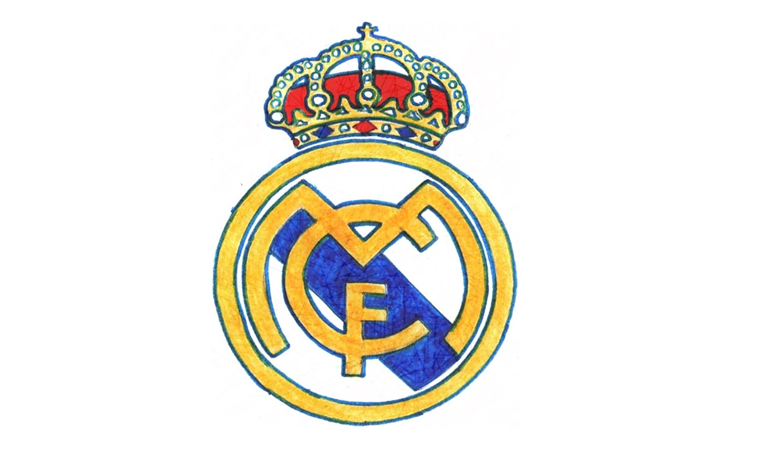 1500x886 How To Draw The Real Madrid Logo (Cf)