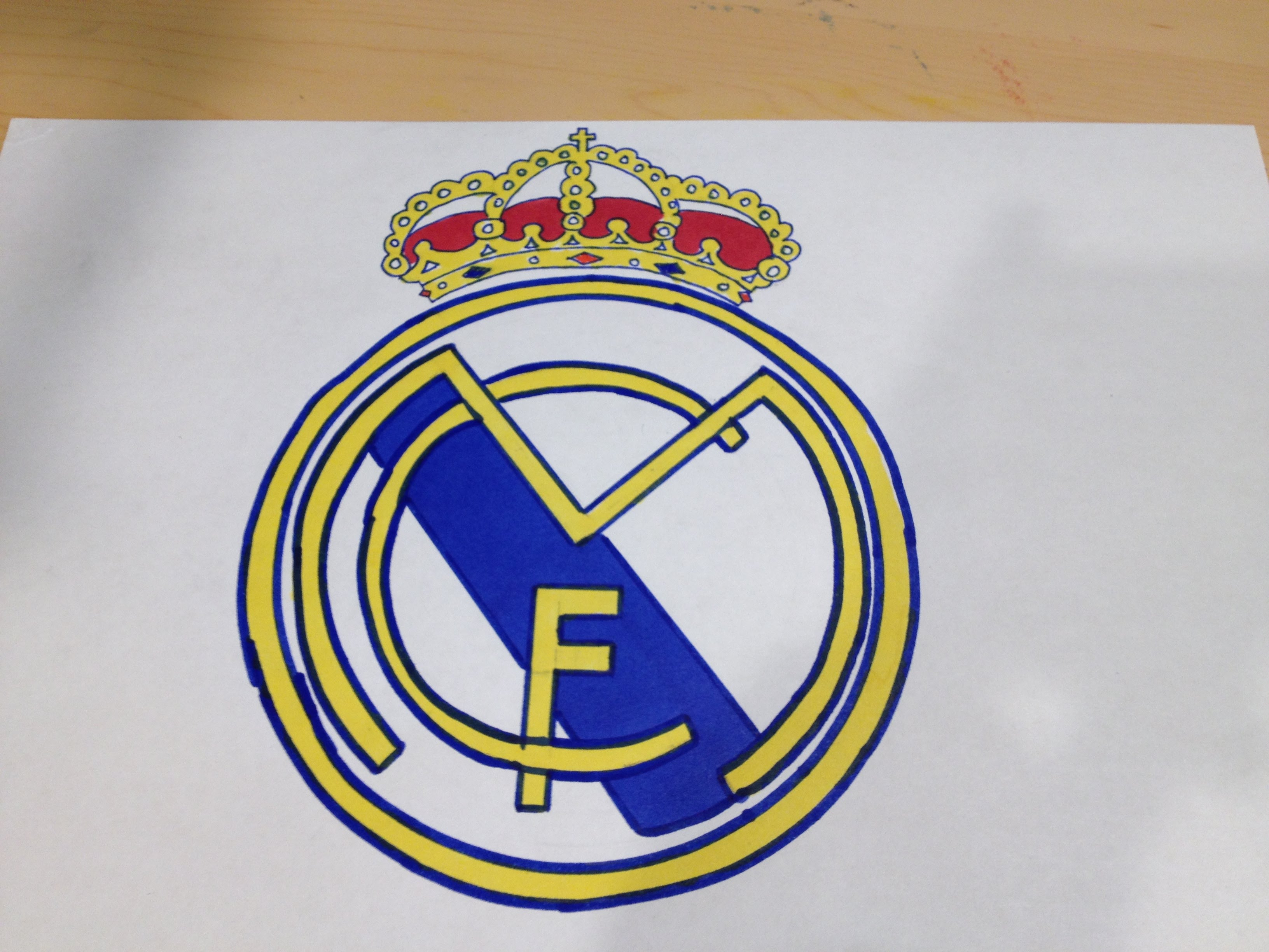 3264x2448 How To Draw The Real Madrid Logo Logo Drawing