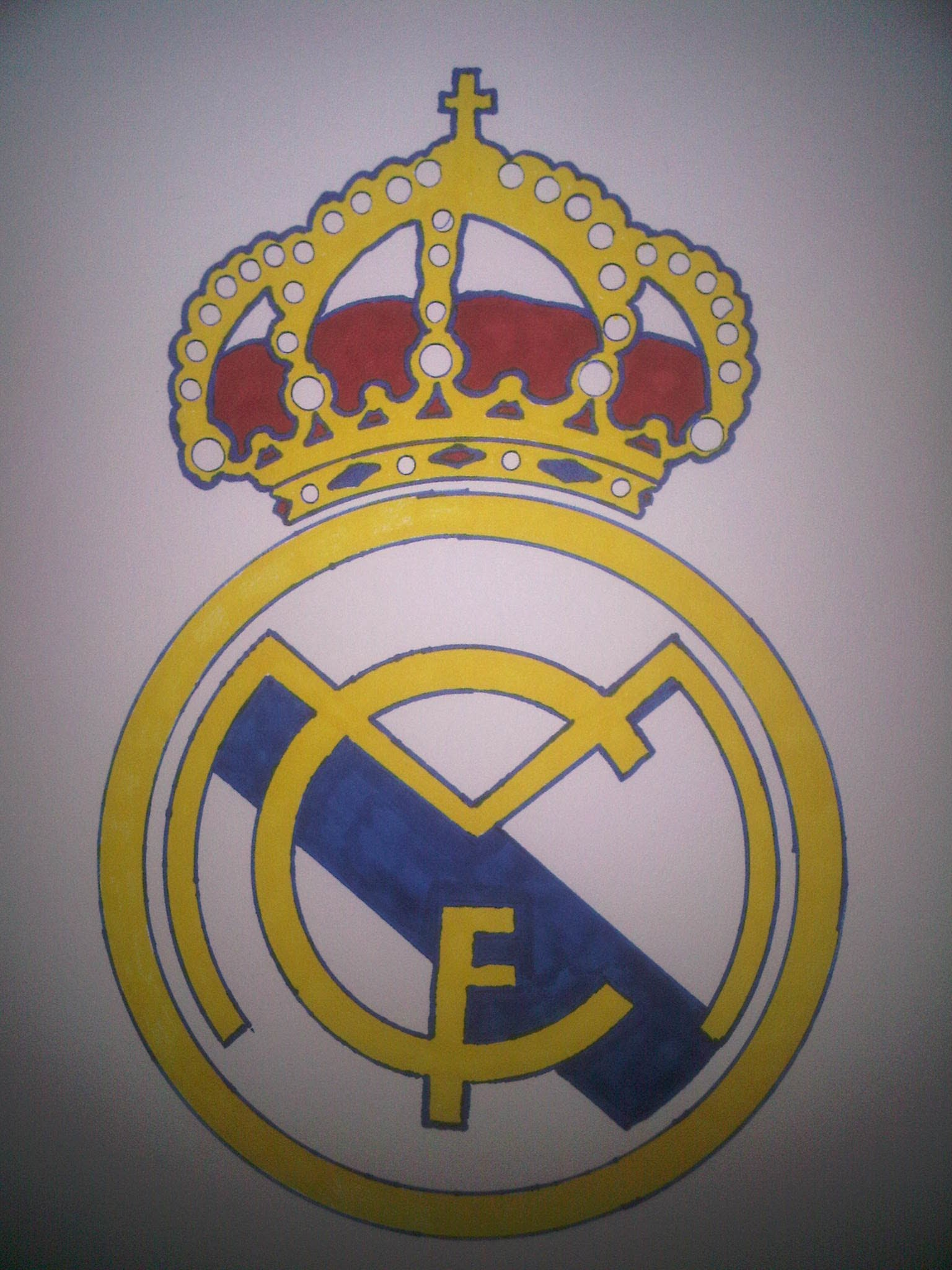 1536x2048 How To Draw The Real Madrid Logo Dibujar El Logo Del Real