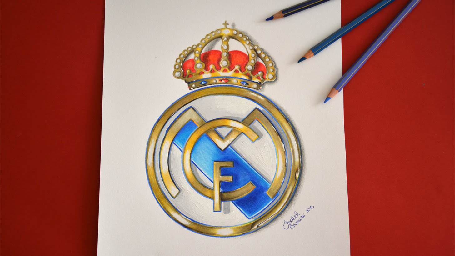 1456x819 Real Madrid Logo Drawing