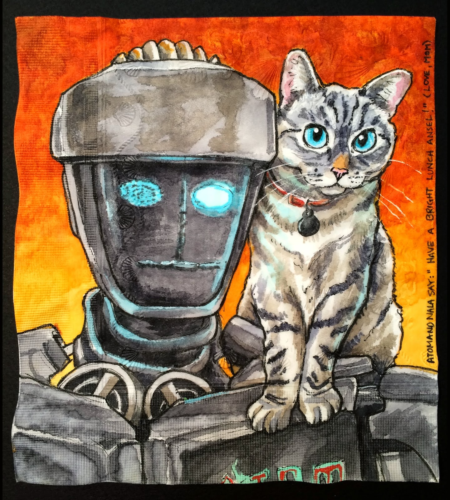 1442x1600 Daily Napkins Atom From Real Steel With Nala