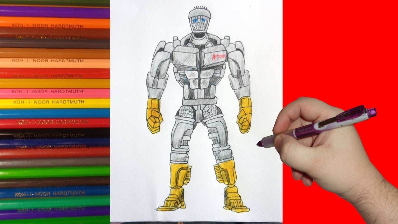 1280x720 How To Draw Robot Atom, Real Steel,
