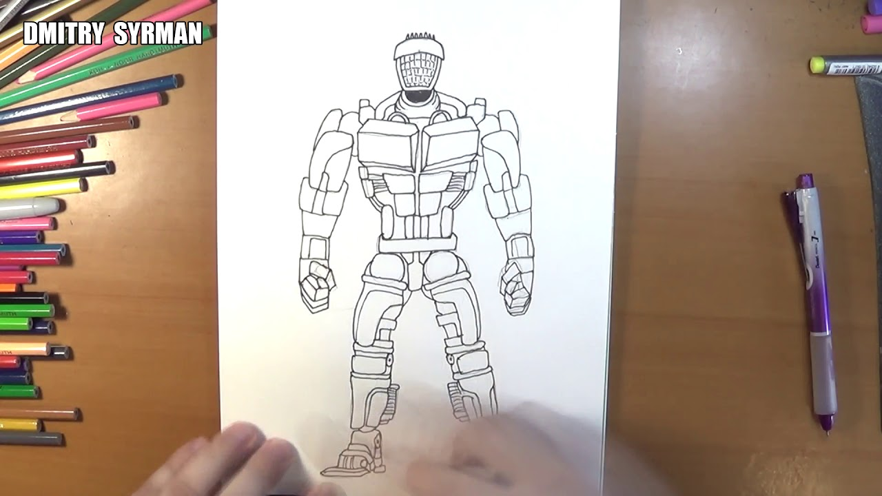 1280x720 Speed Drawing Robot Atom, Real Steel