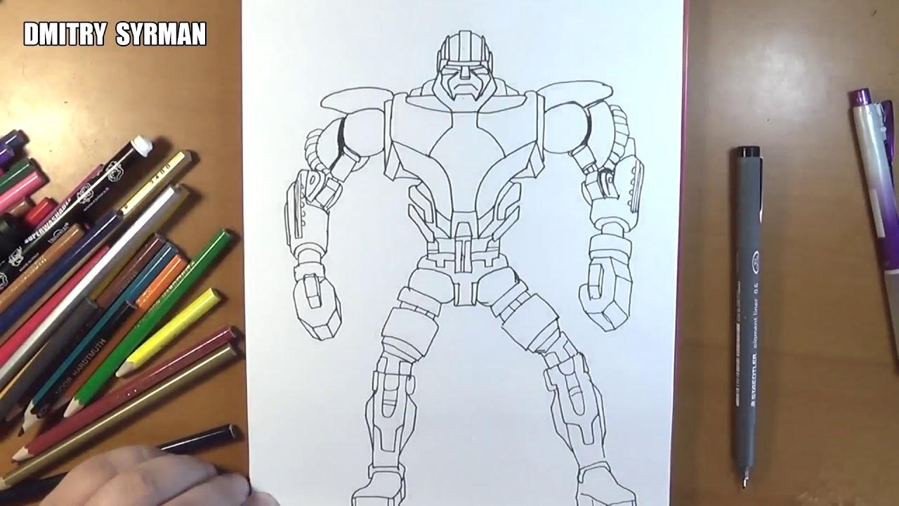 1280x720 Speed Drawing Robot Zeus, Real Steel