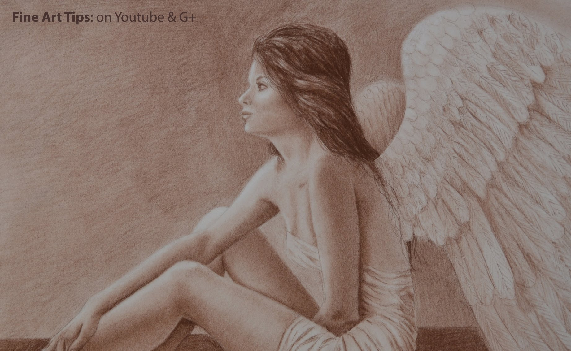 1844x1134 How To Draw A Realistic Angel With Pastel