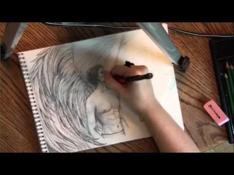 480x360 Drawing Long, Flowy Angel Wings