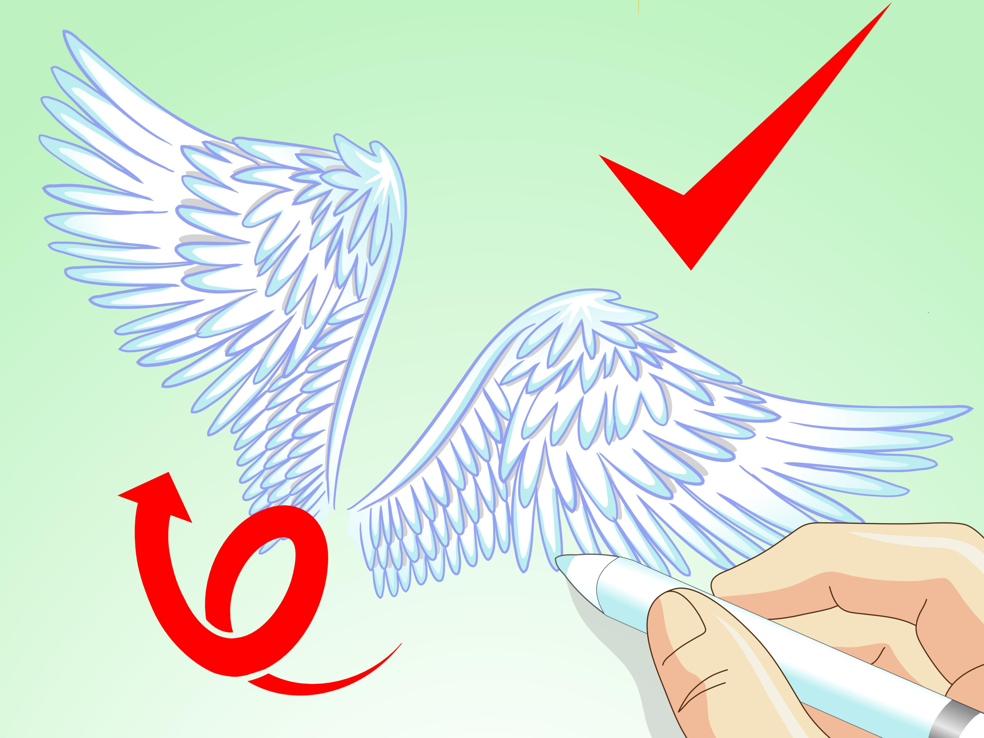 3200x2400 How To Draw Angel Wings 14 Steps (With Pictures)