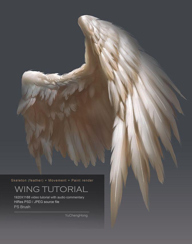 671x850 Photos Painting Angel Wings Tutorial,