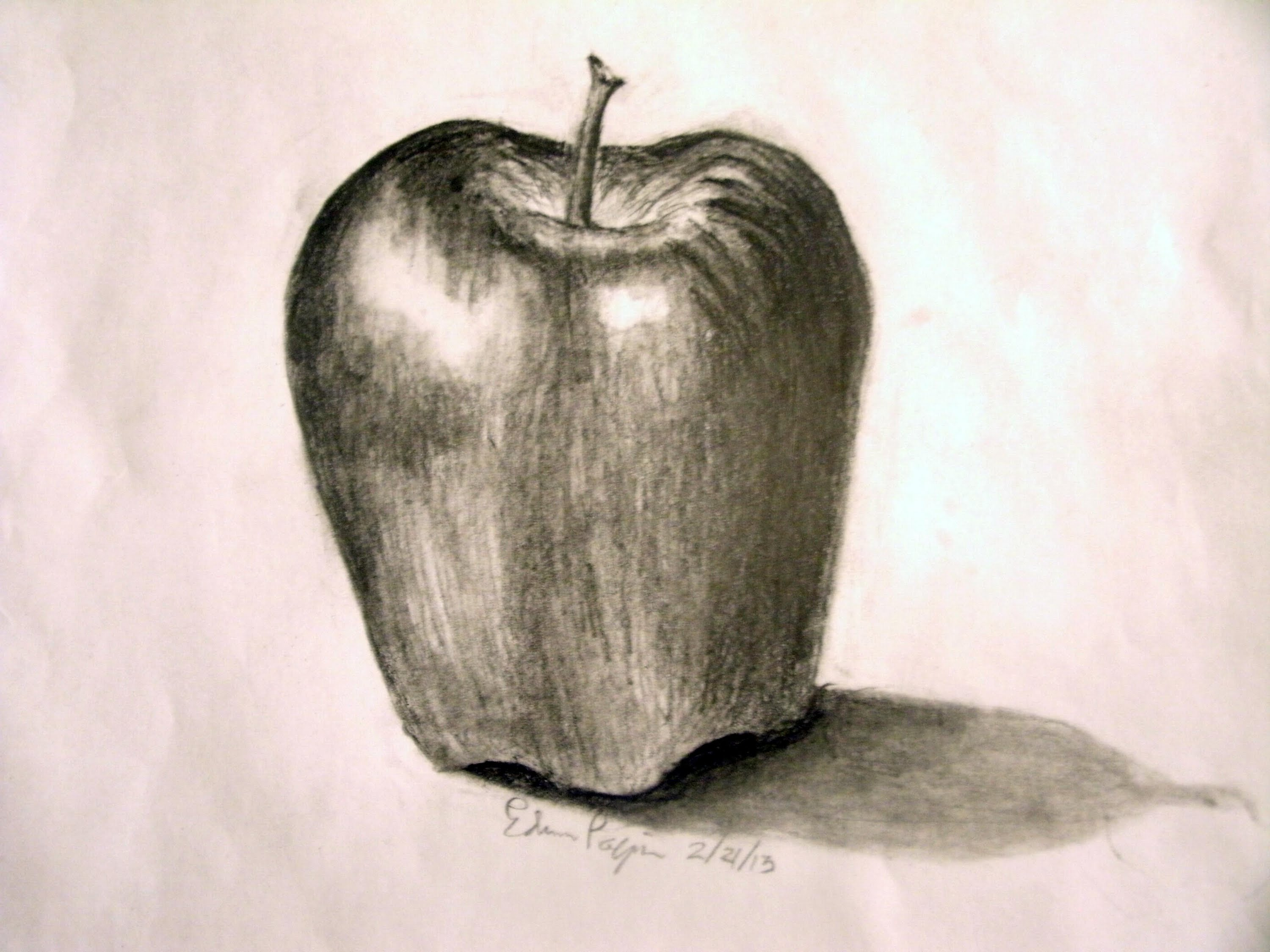 3000x2250 How To Draw A Realistic Apple In Pencil