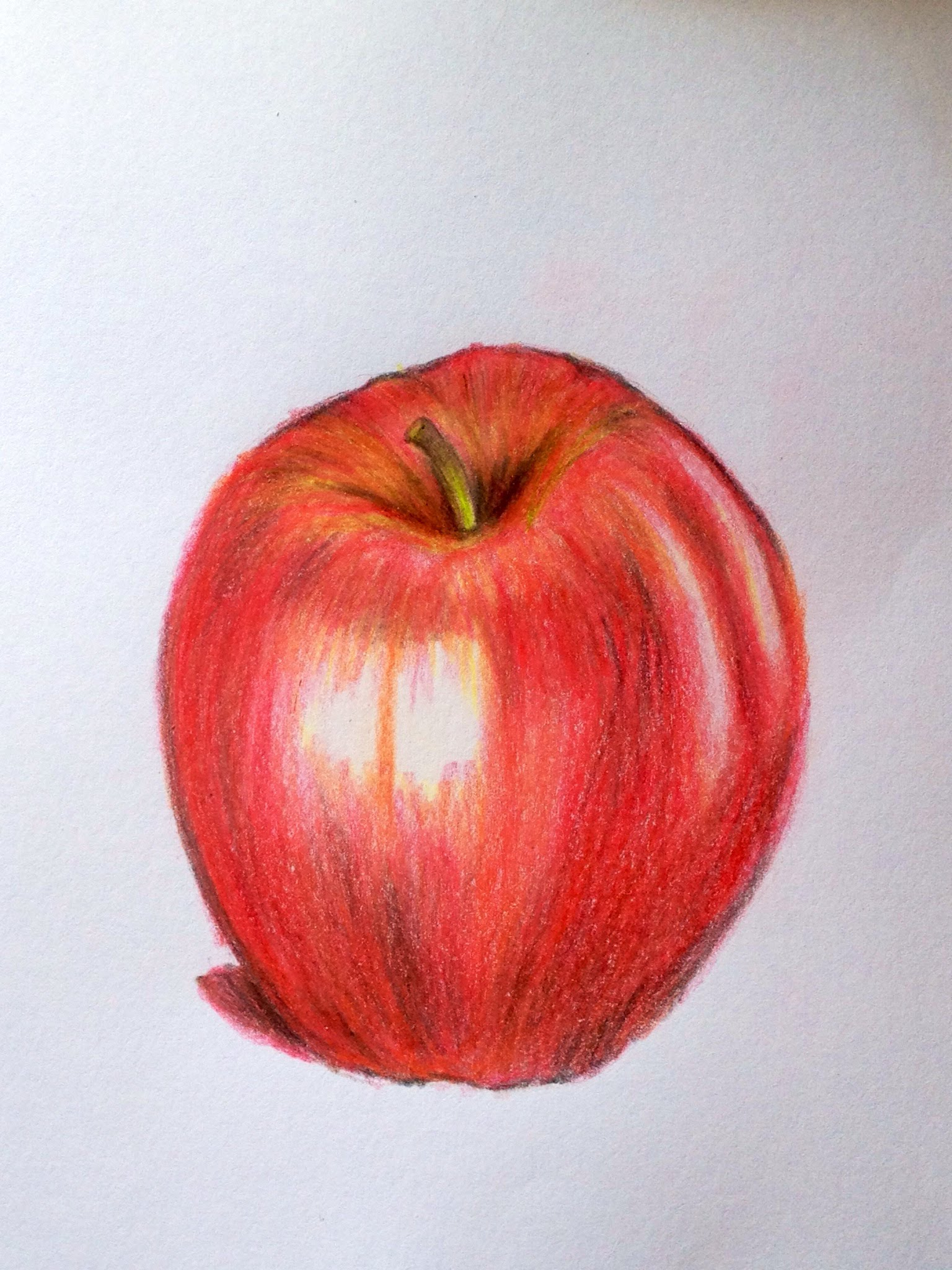 1536x2048 How To Draw A Realistic Apple With Colored Pencils.