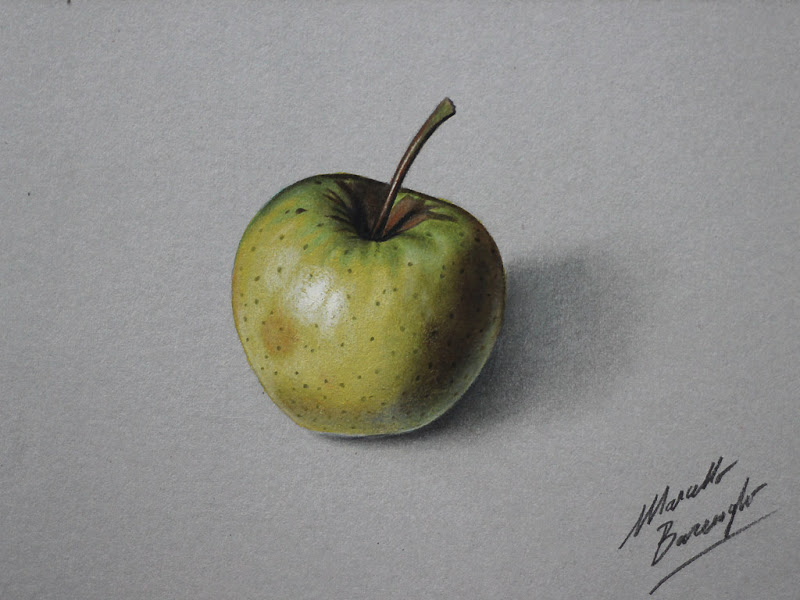 800x600 Yellow Apple Realistic Drawing