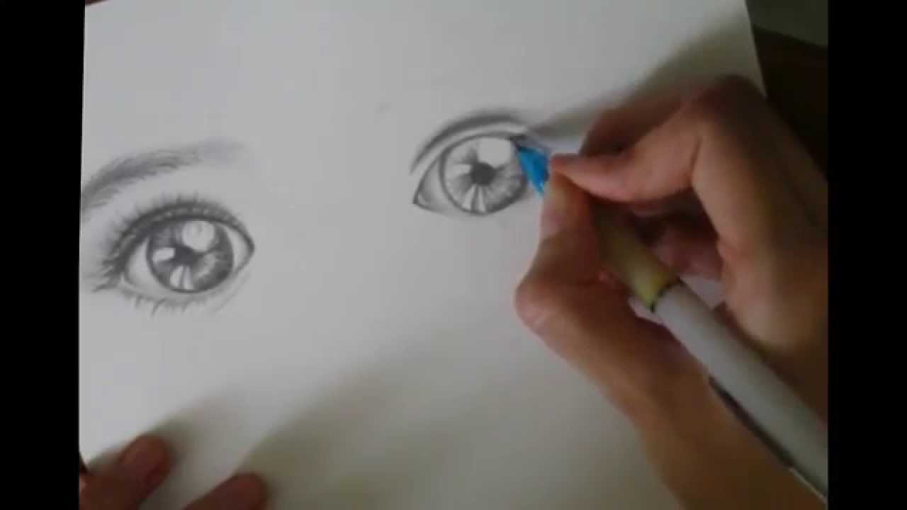 1280x720 Baby Eyes Drawing