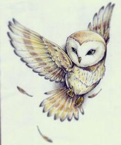 236x282 Barn Owl Celtic Shaman