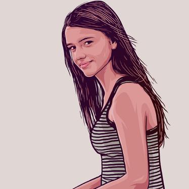 374x374 Draw Realistic Cartoon Portrait For Amillustration