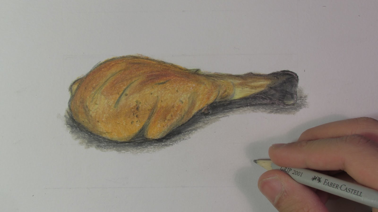 1600x899 Realistic Chicken Leg (Speed Drawing)