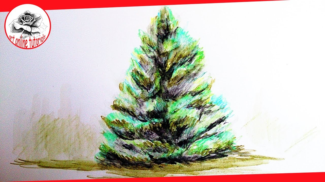 Realistic Christmas Tree Drawing at GetDrawings.com | Free for ...
