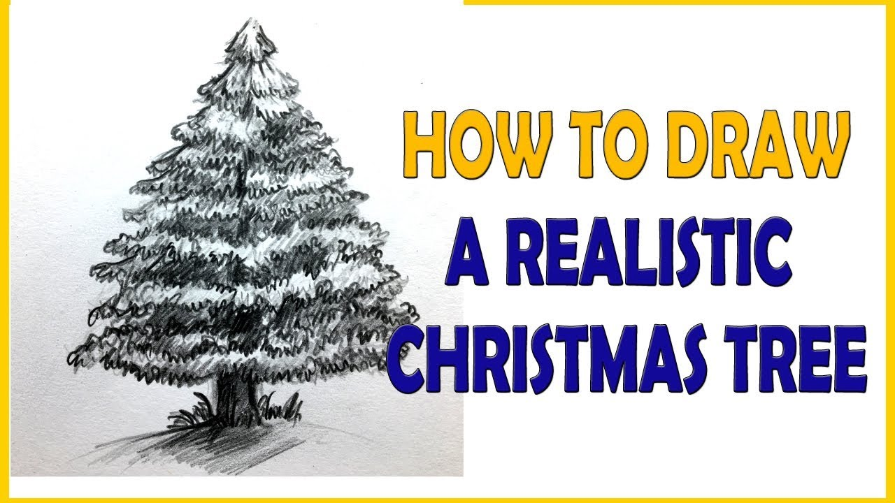 1280x720 How To Draw A Realistic Christmas Tree