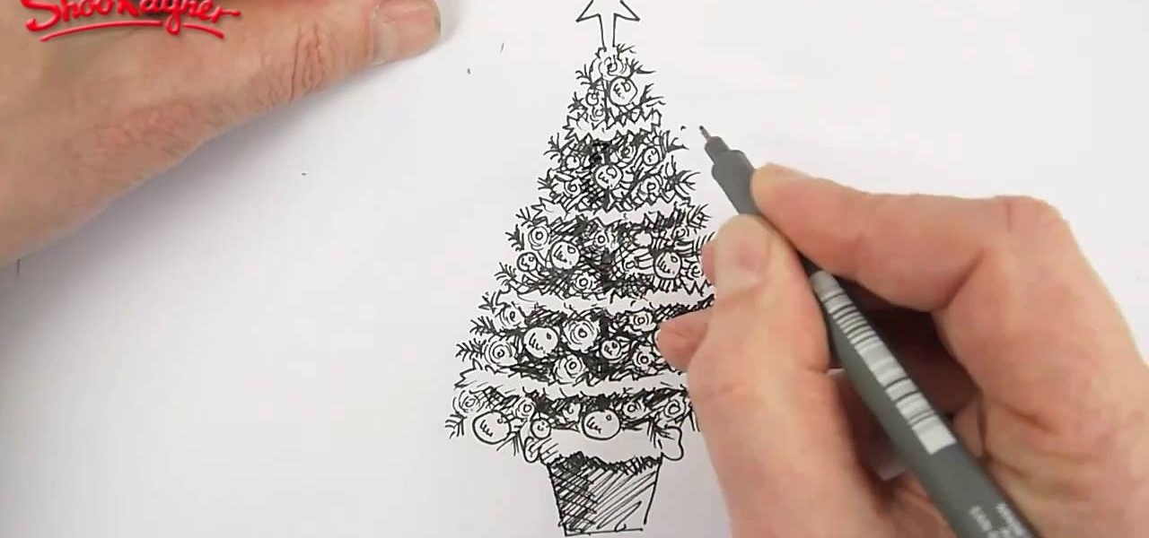1280x600 How To Draw And Color A Beautiful Christmas Tree Christmas Ideas