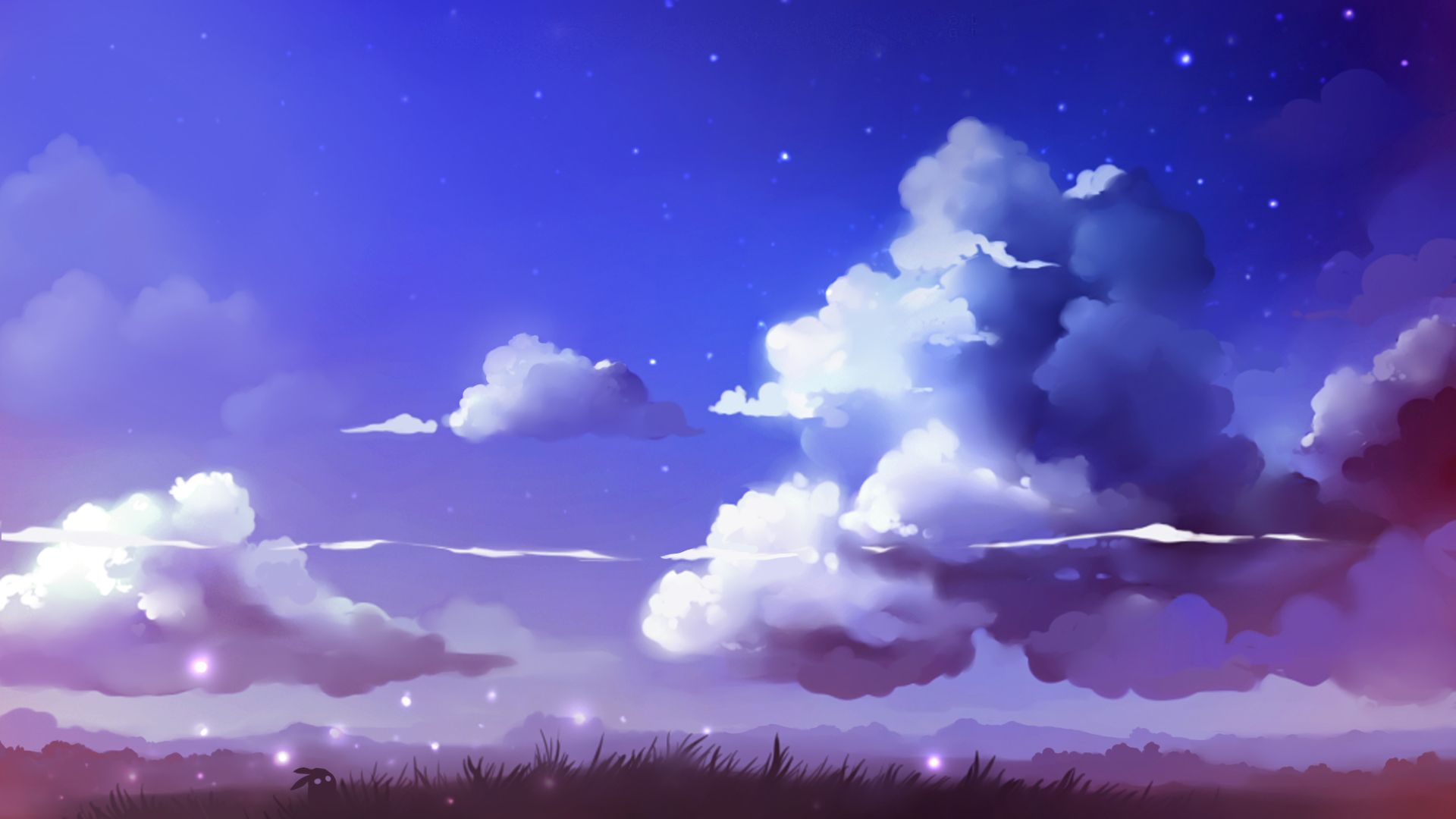 1920x1080 Clouds Drawing Realistic