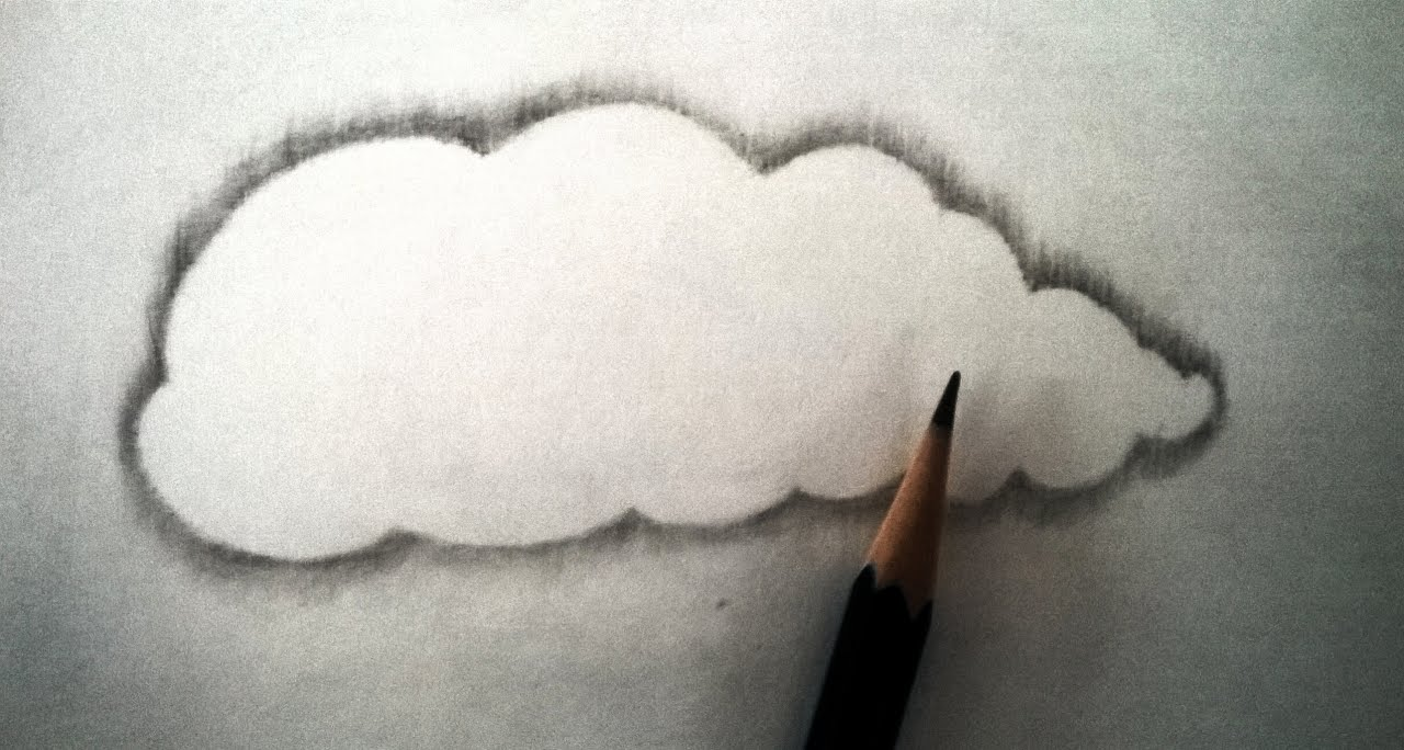 1280x684 How To Draw Realistic Clouds With Pencil