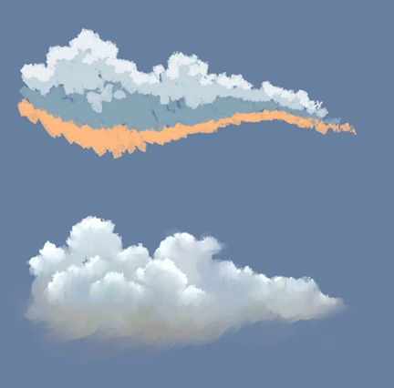 432x426 How To Paint Clouds