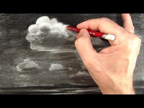 480x360 Summer Shade, Drawing Imaginary Clouds, Time Lapse