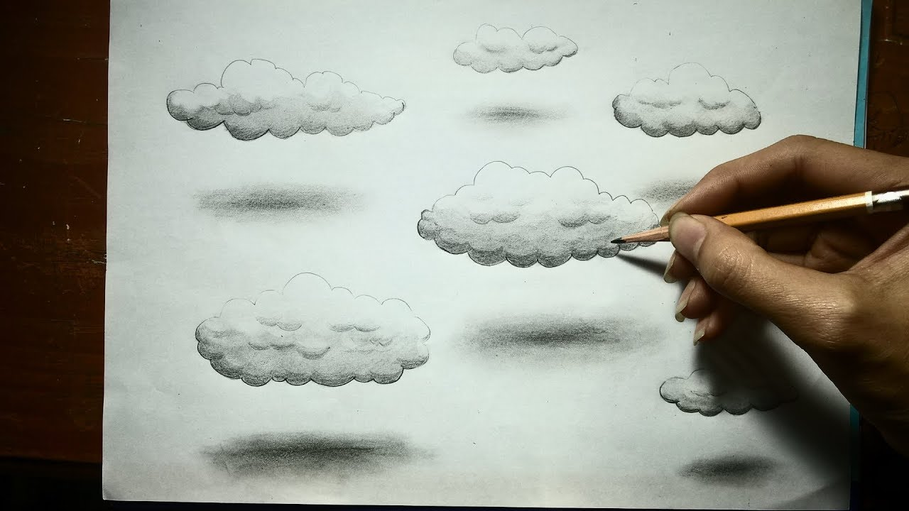 1280x720 Very Easy!!! How To Drawing Realistic 3d Clouds 3d Drawing