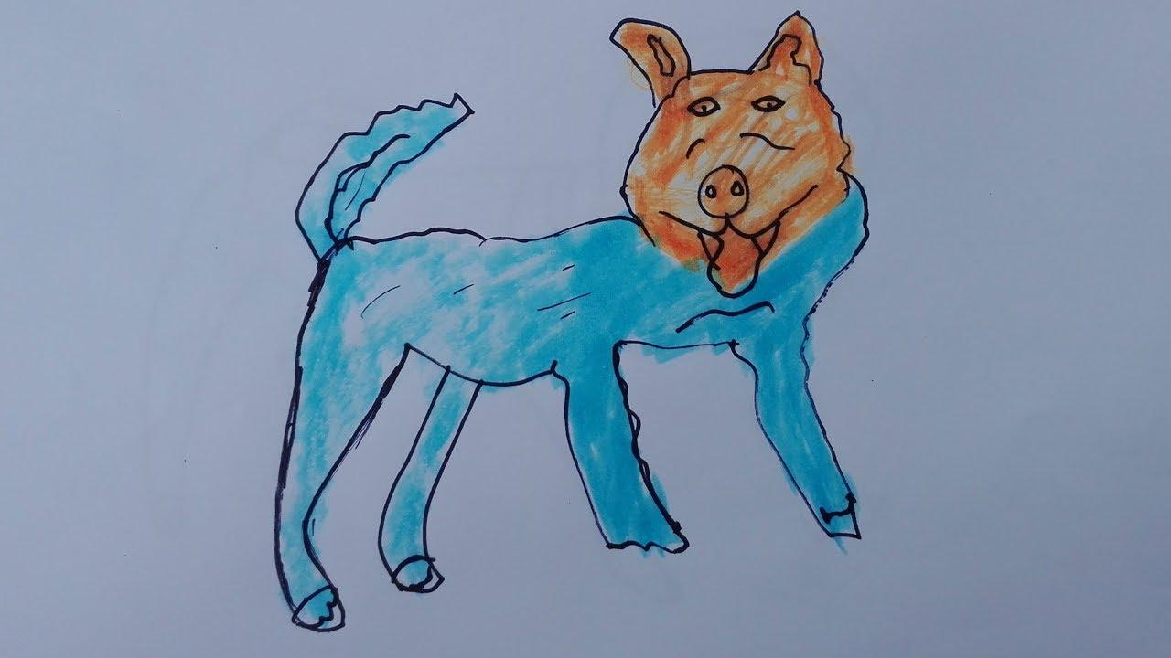 1280x720 How To Draw A Dog Draw A Realistic Dog Draw A Dog Step By Step