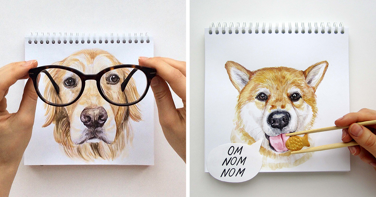 1200x630 Russian Illustrator Turns Famous Instagram Dogs Into Drawings