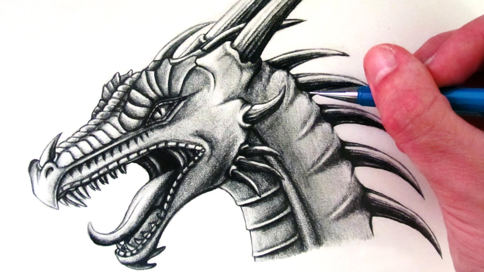 Epic Angry Birds Timelapse Drawings Cool Music: Realistic Dragon Drawing At GetDrawings.com