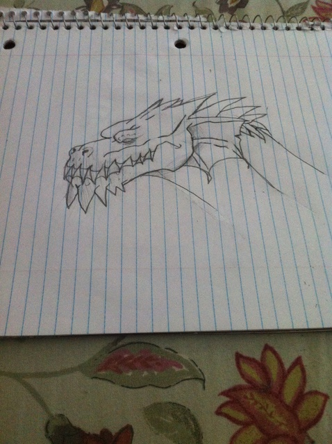 478x640 How To Draw A Realistic Dragon Head