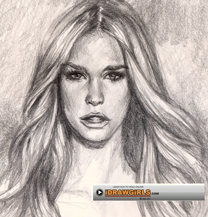 671x700 how to draw hair for realistic portrait